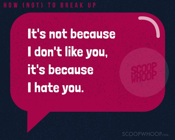 16 Brutal Break-Up Lines That Are Worse Than 'It's Not You
