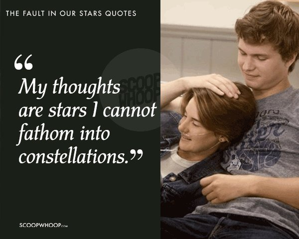 60 Quotes From 'The Fault In Our Stars' About Love Pain Grief Awesome The Fault In Our Stars Quotes