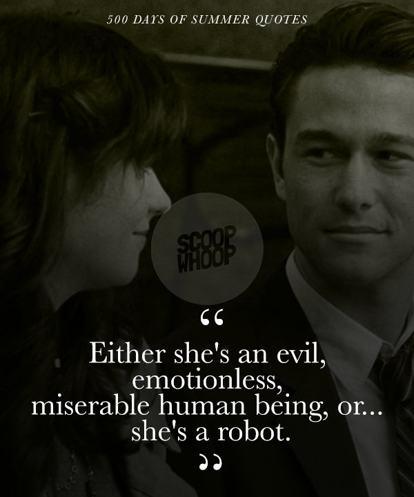 These 21 Quotes from \'500 Days Of Summer\' Take A Realistic ...