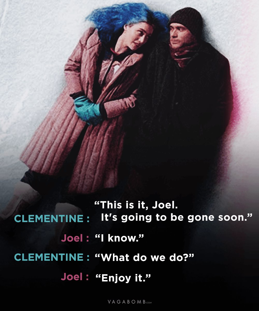 Love Is Eternal Quotes 10 Quotes From Eternal Sunshine Of The Spotless Mind That