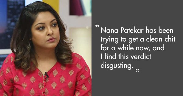 #MeToo: Tanushree Dutta Calls Verdict 'Disgusting' As Nana Patekar Gets A Clean Chit