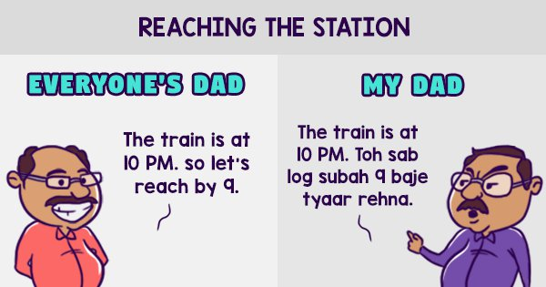 12 Hilarious Posters That Show How My Dad Reacts In Everyday Situation Vs Everyone Else's