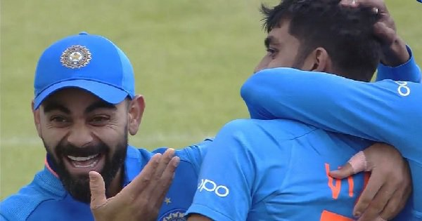Kohli's Reaction To Vijay Shankar Taking A Wicket On His First Ball In The World Cup Is All Of Us