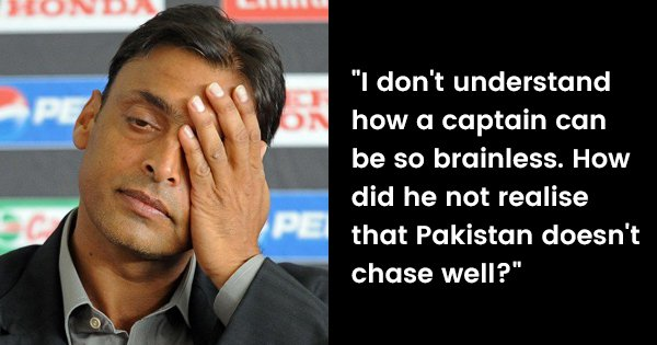 Shoaib Akhtar Rips Into Pakistan Cricket Team After Loss To India, Calls Captaincy 'Brainless'