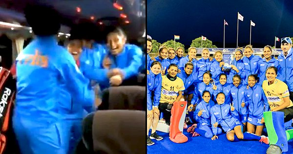 Indian Women's Hockey Team Dance On Team Bus After Thrashing Japan In FIH Series Finals