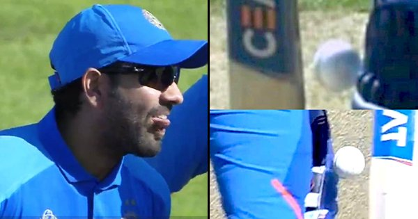 Rohit Sharma Tweeted A Pic Of His Dismissal & No, We Still Can't See The Bat Touching The Ball