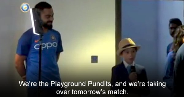 Watch Virat Kohli Answer 'Tough' Questions From A Lil' Kid Ahead Of India's Match Against England