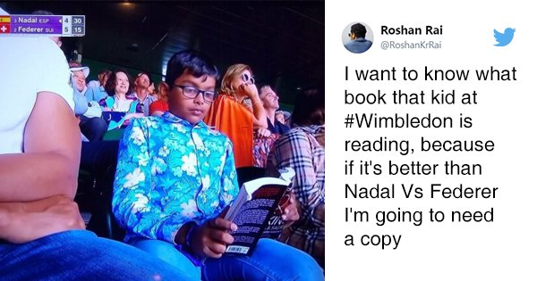This Boy Chose A Federer-Nadal Match To Read A Book. Twitter Wants To Bookmark This Moment