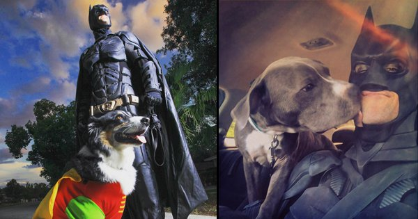 This Real-Life Superhero Dresses As Batman & Saves Abandoned Animals From Being Put Down