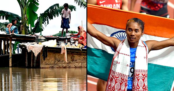 Hima Das Donates Half Her Salary For Relief Efforts In Flood Hit Assam, Asks Corporates To Help