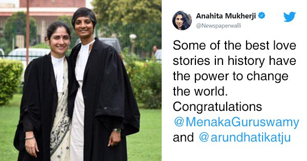 As The Lawyers Behind Sec 377 Verdict Come Out As A Couple, Twitter Hails The Power Of Love