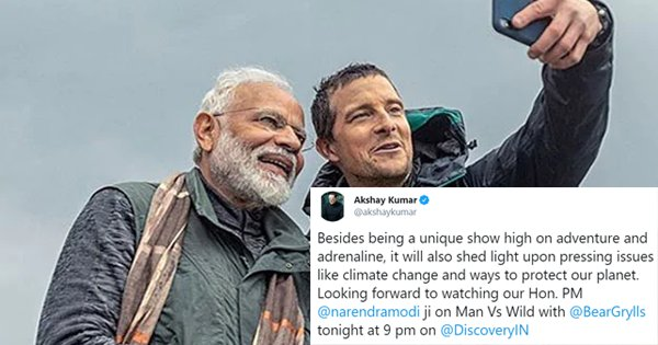 Here's How Celebs, Politicians & Aam Junta Reacted On Twitter As PM Modi Featured On 'Man Vs. Wild'