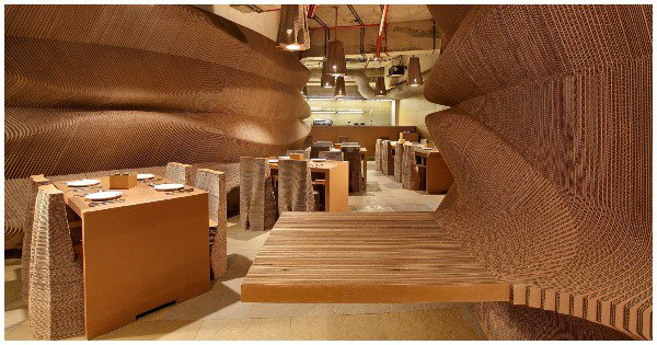 This Mumbai Cafe Is Made Entirely Of Cardboard. Time For Some 'Out Of The Box' Insta Stories