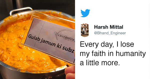All Of Twitter Is Losing Its Mind After Someone Shared A Pic Of 'Gulab Jamun Ki Sabzi'
