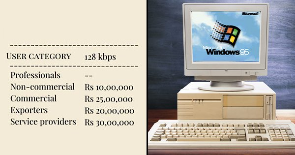 Apparently, Using The Net In 1995 At 128 Kbps Would've Cost You At Least ₹10 lakh Per Year