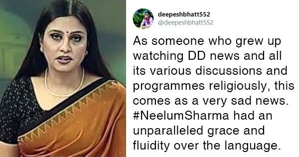 'Lost A Part Of Childhood': Twitter Mourns The Demise Of Former DD News Anchor Neelum Sharma