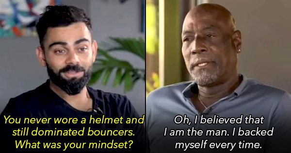 Virat Sat Down For A Chat With Sir Viv Richards & It Was The Best Of Both Eras Of Cricket