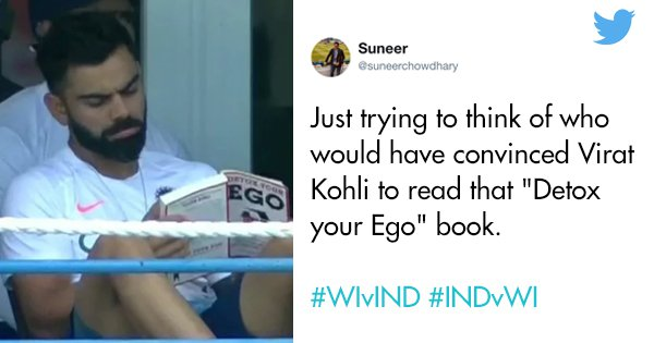 Viral Pic Of Virat Kohli Reading 'Detox Your Ego' During Test Match Leaves Twitter In Splits