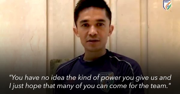 'You Give Us Power': Sunil Chhetri Urges Fans To Attend India's First WC Qualifier Against Oman