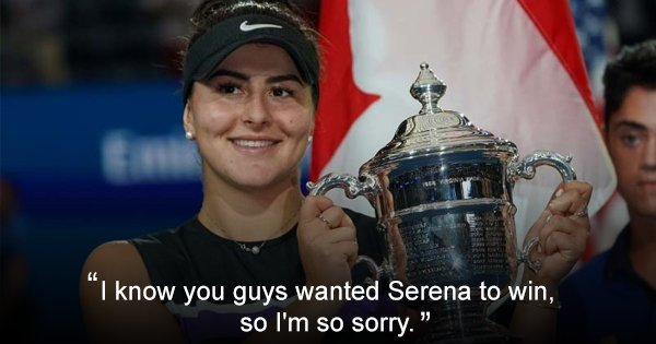 In A Warm Gesture, 19-Year-Old Bianca Andreescu Apologises To Crowd After Defeating Serena Williams