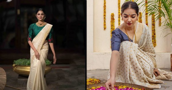 14 Gorgeous Onam Looks That Will Tempt You To Order A Kasavu Saree Right Away