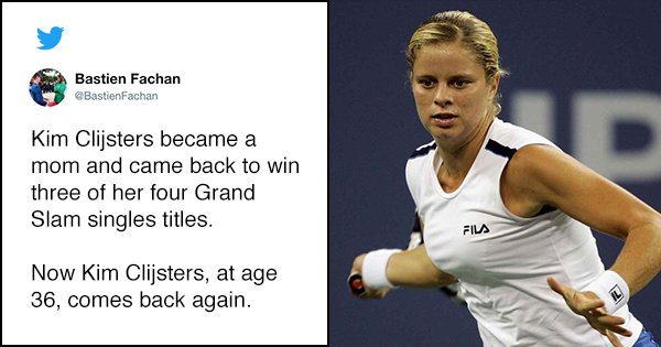 Former World No. 1 Kim Clijsters Announces Return To Professional Tennis At The Age Of 36