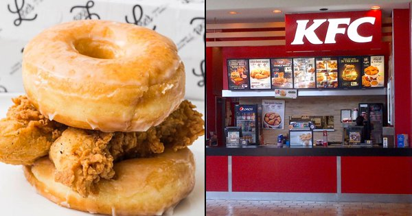 KFC Are Testing A New Sandwich That's Basically Chicken In Between Two Doughnuts. No, Not Kidding