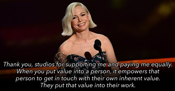 Michelle Williams' Powerful Speech On The Gender Pay Gap Deserves An Emmy Of Its Own