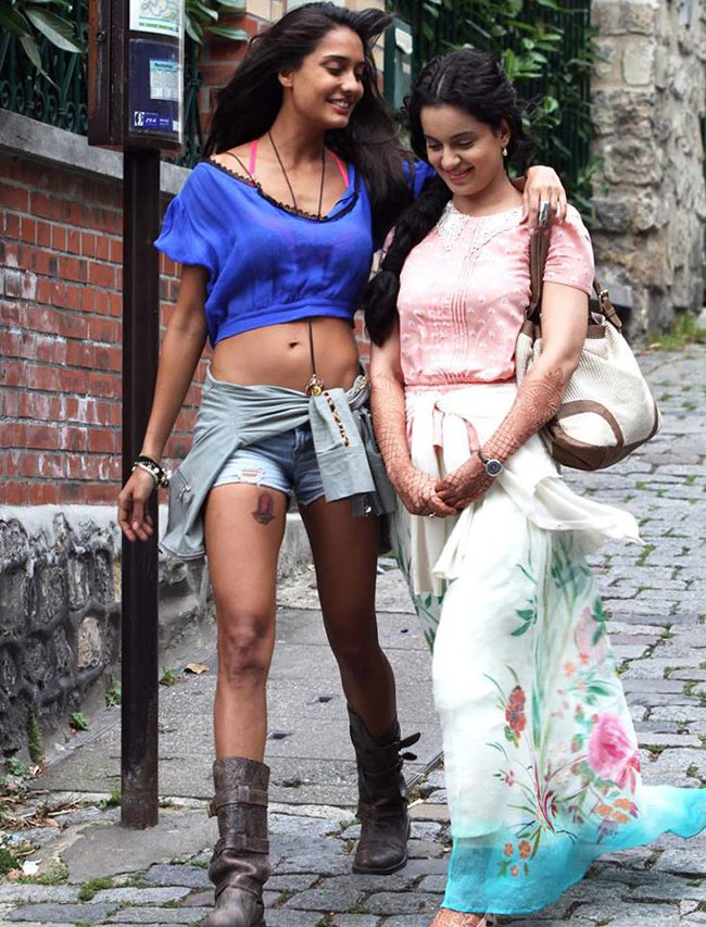 Lisa and Kangana in Queen