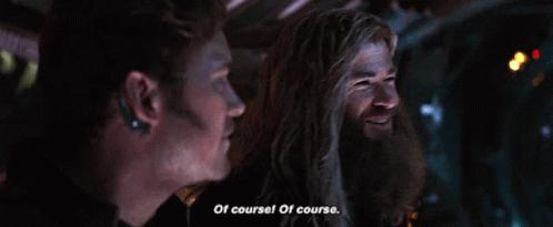 thor of course gif