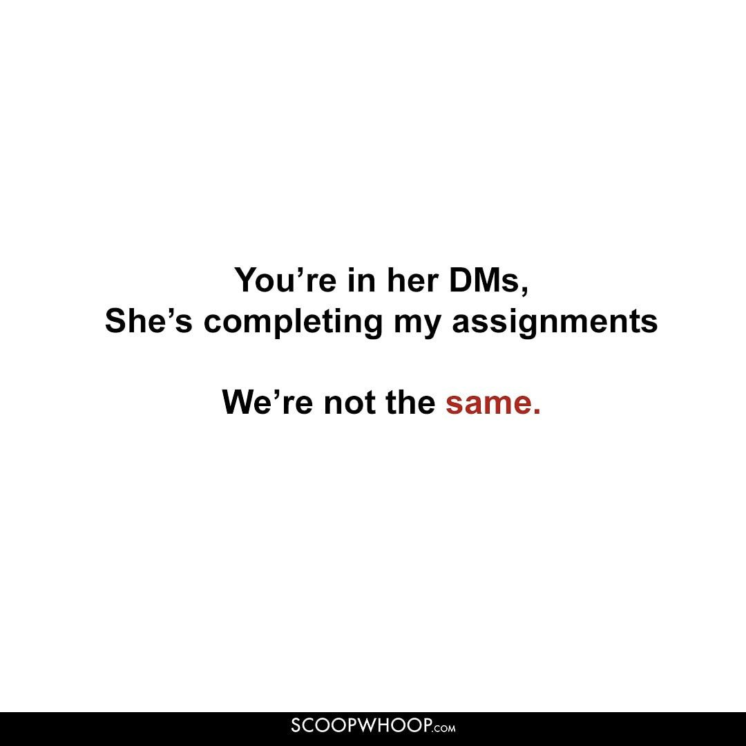 You're in her DMs