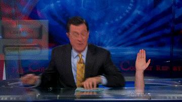 Steven Colbert gif