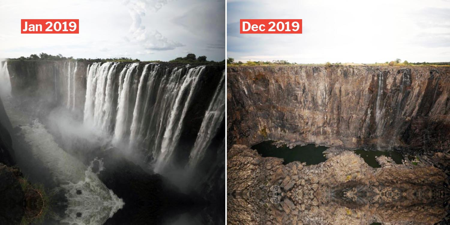 Victoria Falls Is Drying Up Quickly Because Of Climate Change