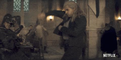 Geralt fighing gif