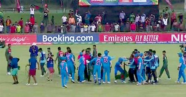 Watch As Ind and Ban U-19 Teams Clash On The Field After Closely-Fought World Cup Final