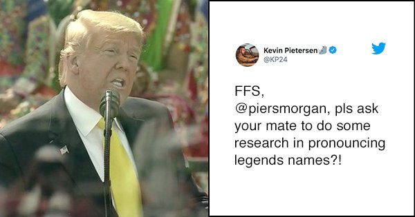 Soochin Tendulkar? Kevin Pietersen Is Not Impressed With Trump Mispronouncing The Legend's Name