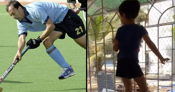 Ex-Hockey Player Viren Rasquinha Made An Adorable In-House Obstacle Course For His Daughter