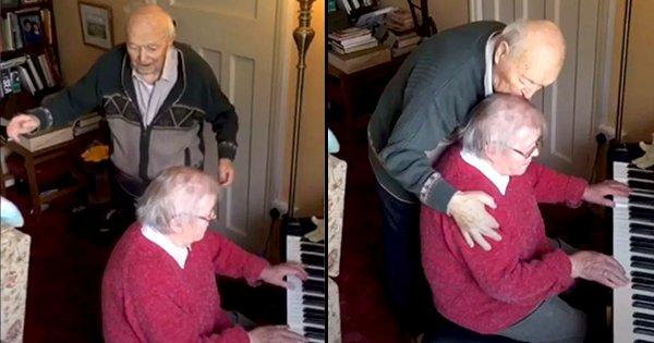 Watch This Elderly Couple Play The Piano, Make Music and Dance Their Way Through Self-Isolation