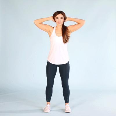 Standing oblique crunch