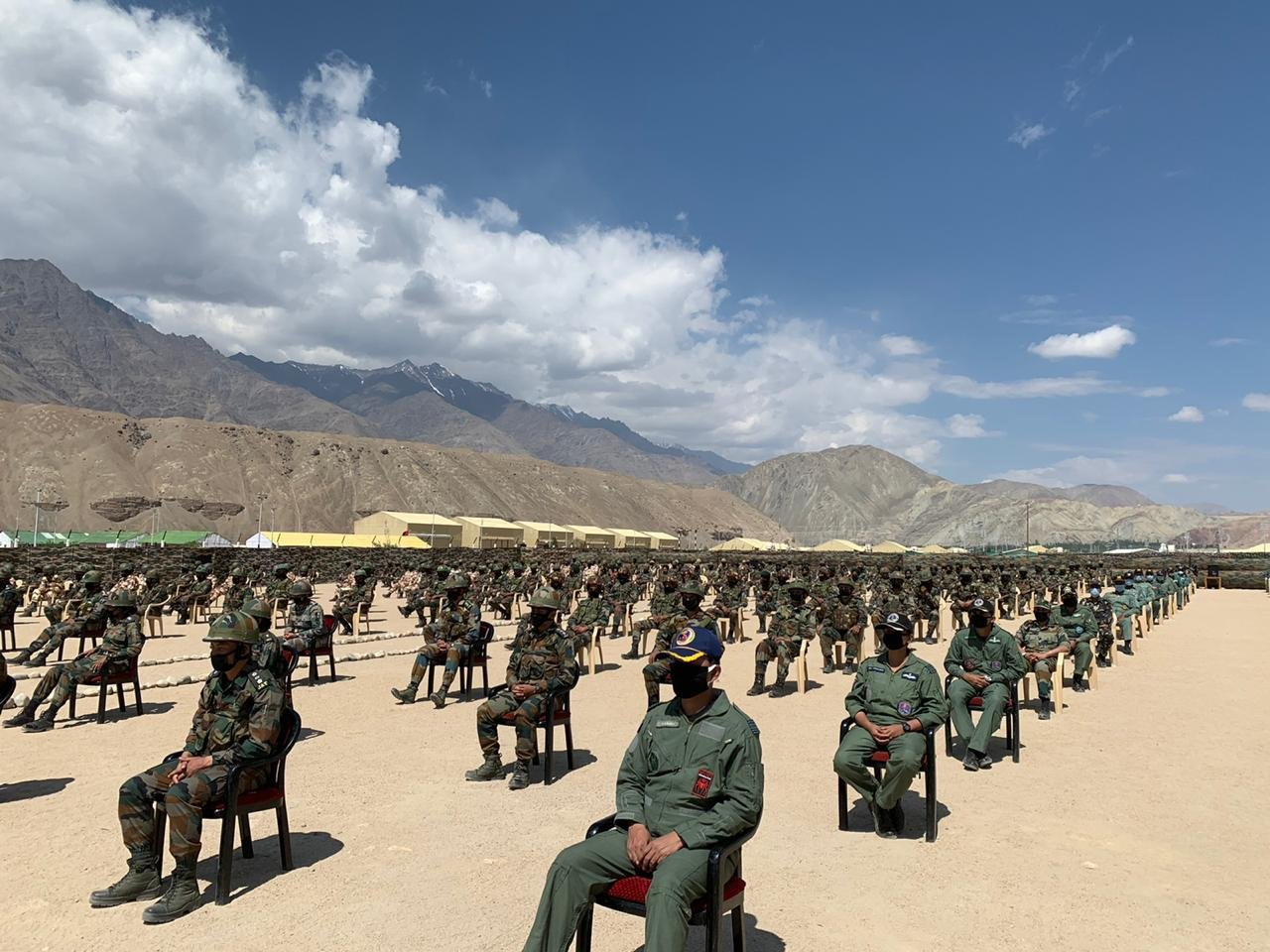 Indian army in Leh