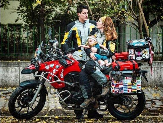 Maral avec son mari et sa fille