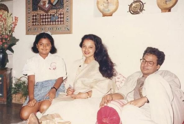 rekha with her husband