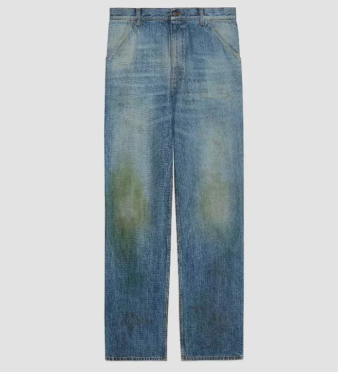 Grass-Stained Gucci Jeans