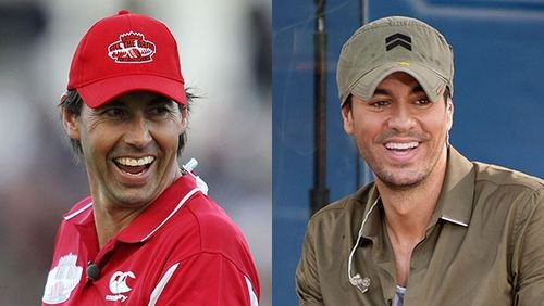 Image result for Stephen Fleming and singer Enrique Iglesias