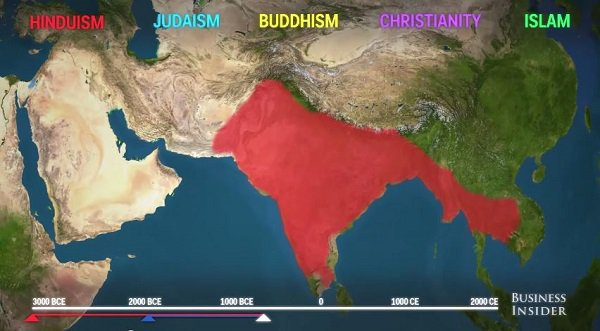 an analysis of religion spread throughout the world Throughout india's history, religion has even though these religions are not native to india many other world religions also islam's spread in india.