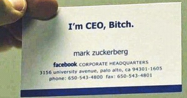 Check Out These Actual Business Cards Of The Worlds Most Famous People