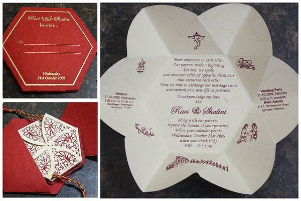 31 creative wedding invitation cards that deserve a thumbs up 13 traditional with a twist stopboris Gallery