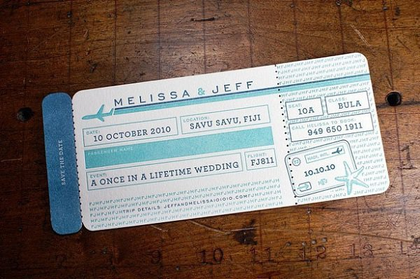 31 creative wedding invitation cards that deserve a thumbs up 2 they will never have to sing im leaving on a jet plane stopboris Gallery